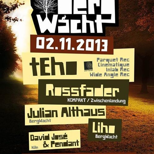 Teho - Live @ Bergwacht (02.11.2013) NOW FREE DOWNLOAD