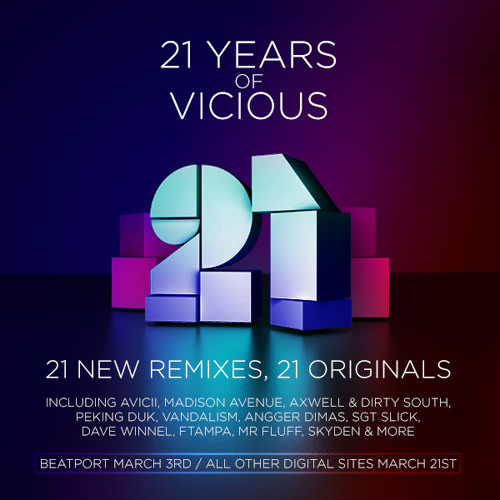 21 Years Of Vicious [Available on Beatport & iTunes]