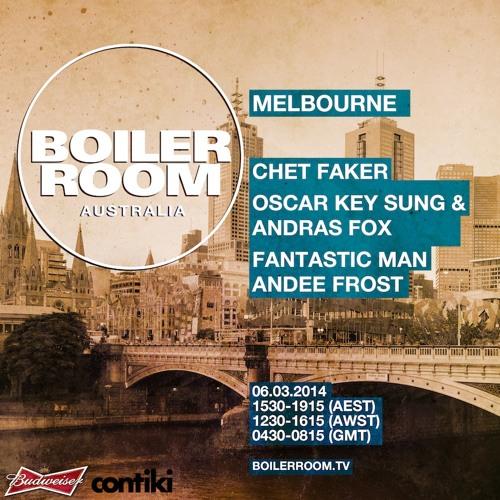 Boiler Room Melbourne Roof - Chet Faker