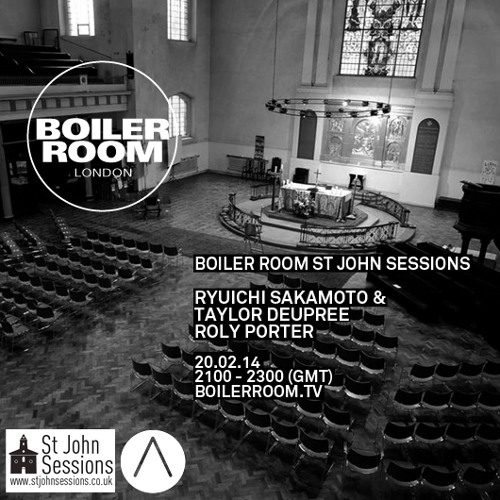 Roly Porter live in the Boiler Room x St John's Sessions