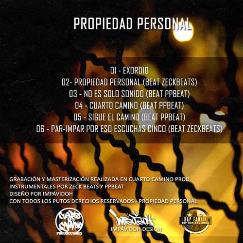 Propiedad Personal - No Es Solo Sonido (PPbeat) CuartoCaminoProd