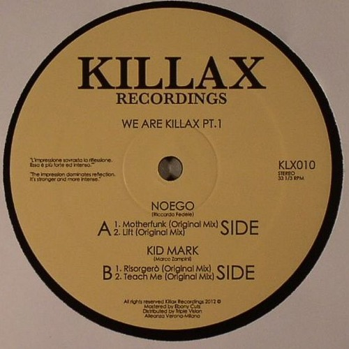 [KLX010] Noego & Kid Mark - We Are Killax PT.1 // VINYL ONLY