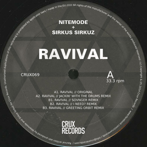 Nitemode & Sirkus Sirkuz - 'Ravival' out now on CRUX RECORDS