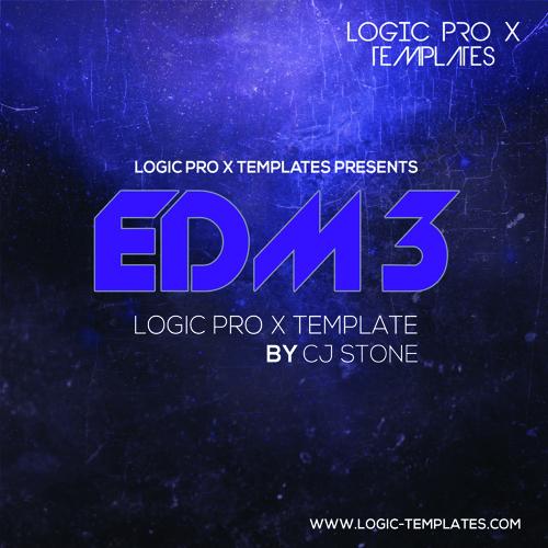 EDM 3 Logic Pro X Template By CJ Stone