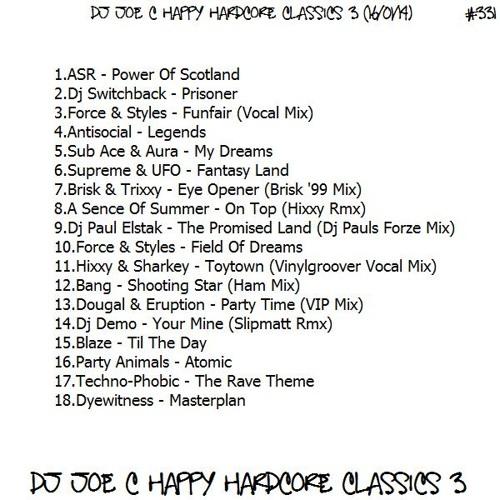 331.Dj Joe Craig - Happy Hardcore Classics 3 (16.01.14)