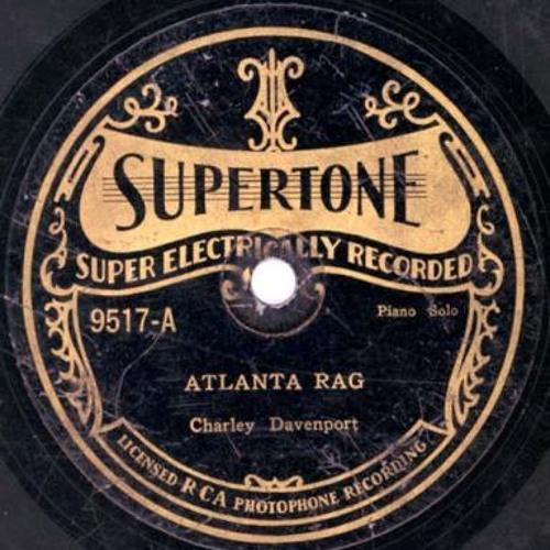 "Cow Cow Davenport ""Atlanta Rag"" Gennett 6869, Suptertone 9517 & Champion 15728 & 50033"