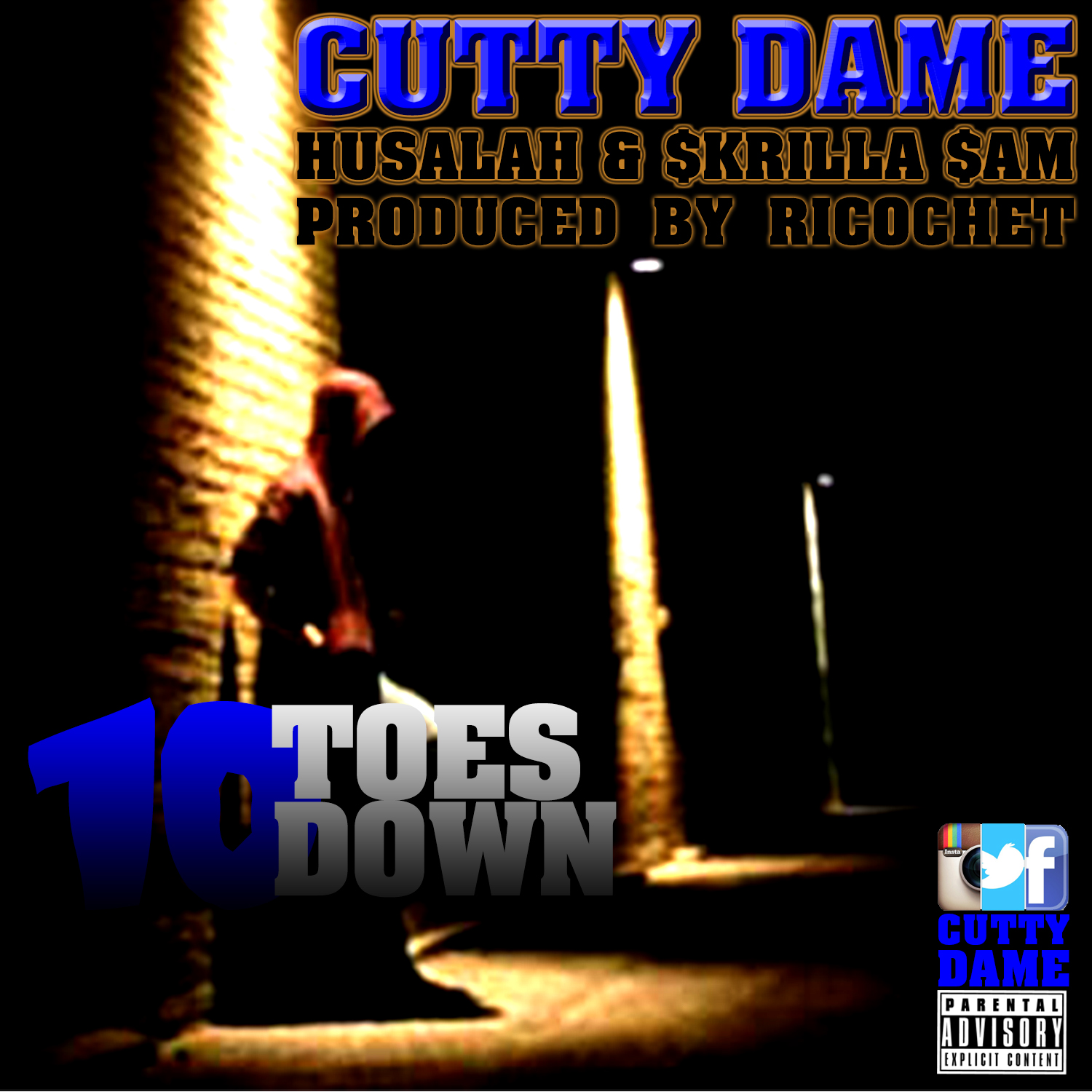 Cutty Dame ft. Husalah & Skrilla Sam - 10 Toes Down (Produced by Richocet) [Thizzler.com]