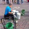 Bucket drummer 10 March 2014 07:35:22 pm at 6th street, Austin TX
