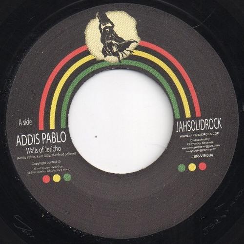 "Addis Pablo ""Walls Of Jericho""/Jah Exile ""To The Chief Musicians"" (JahSolidRock) Ltd Ed. 7"" vinyl"