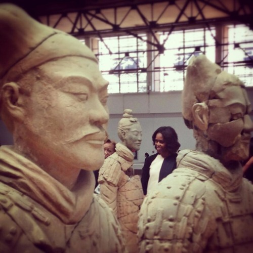 The First Lady's Travel Journal: Seeing the Terra Cotta Warriors in X'ian