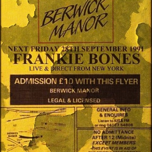 LIVE IN LONDON - BERWICK MANOR - SEPTEMBER 28, 1991