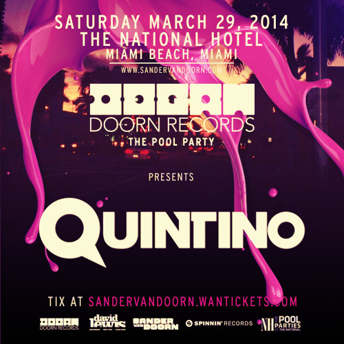 DOORN Records 'The Pool Party' Preparty Mix by Quintino
