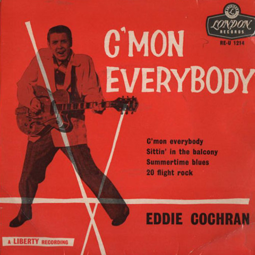 Eddie Cochran : C´mon Everybody - Tomahawk Edit / Free DL !