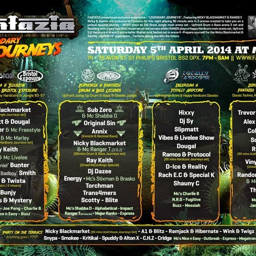 Thumpa - Fantazia Warm Up Mix 05/04/14, Bristol (Classic SUF Acid Techno)