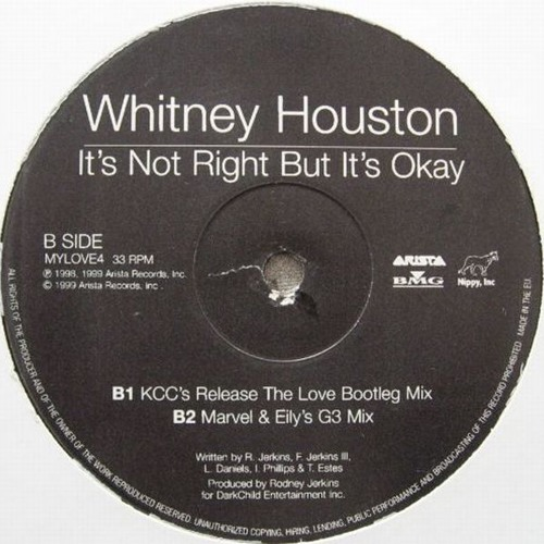 "Whitney Houston ""It's Not Right, But It's OK (Marvel & Eli's G3 remix)"""