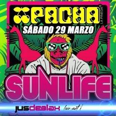 Jus Deelax @ Sunlife 29.03.14 (Pacha, La Pineda, Biggest Pacha In The World)