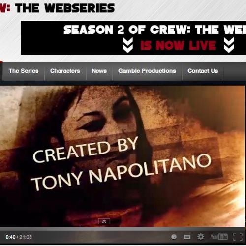 """Tony Napolitano (@crewseries), creator of series """"Crew"""""""