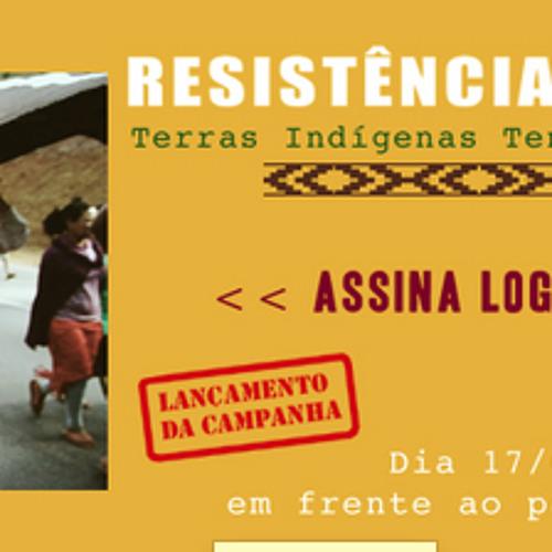 Campanha resistencia guaraní em São Paulo pela demarcação das terras indigenas