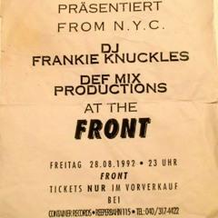 Frankie Knuckles@FRONT 28 08 1992