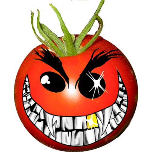 Рисунок смешного помидора