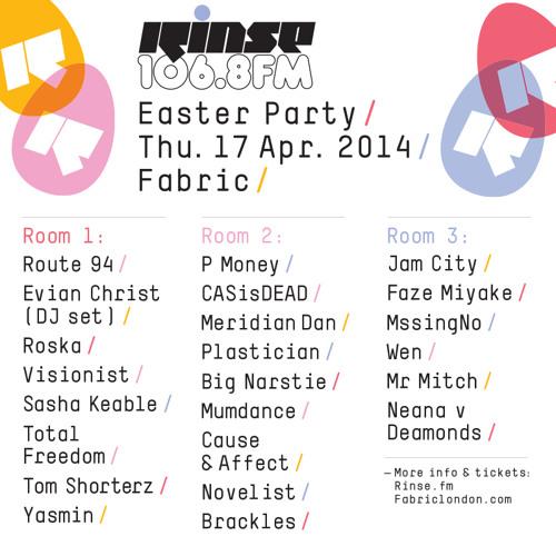 Rinse FM Podcast - Fur Coat - 12th April 2014