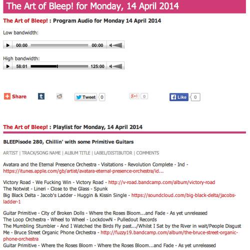 The Mumbling Stumbler on The Art of Bleep! PBS 14/4/14