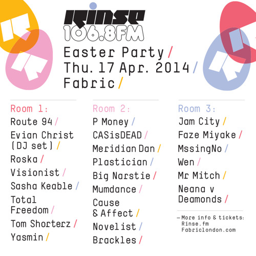 Rinse FM Podcast - Artwork (Grain) B2B Skream - 14th April 2014