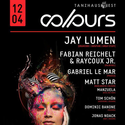 Jay Lumen live at Tanzhaus West Frankfurt Germany (Colours Night) 12 april 2014