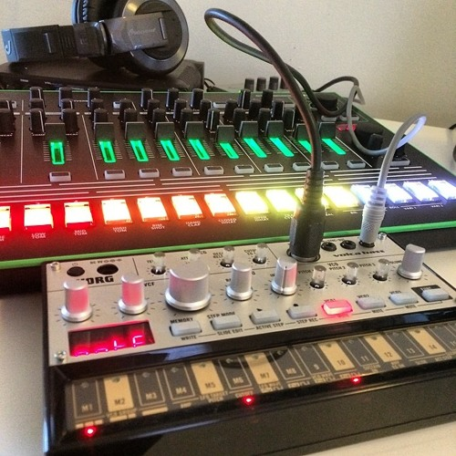 Roland AIRA TR-8 and Korg Volca Bass
