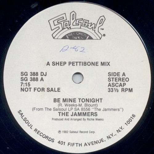 The Jammers - Be Mine Tonight (chris baron edit)