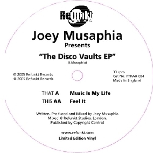 Joey Musaphia - Music Is My Life (The Disco Vaults EP)