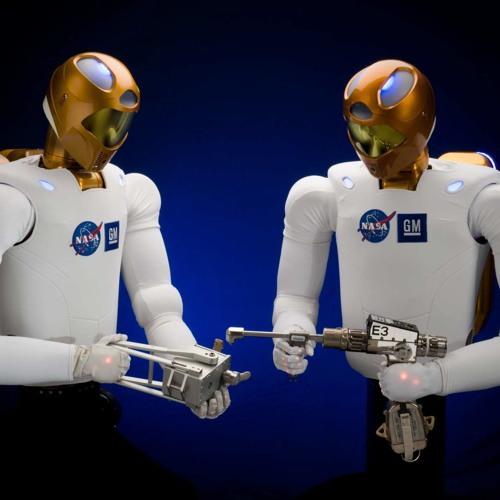 Robonaut working