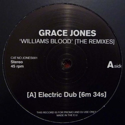 GRACE JONES 'WILLIAMS BLOOD' YAM WHO? ELECTRIC DUB (REMASTER) 2014