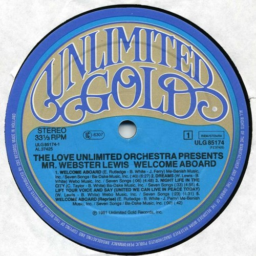 The Love Unlimited Orchestra -Welcome Aboard (Tonbe Edit)/free download/