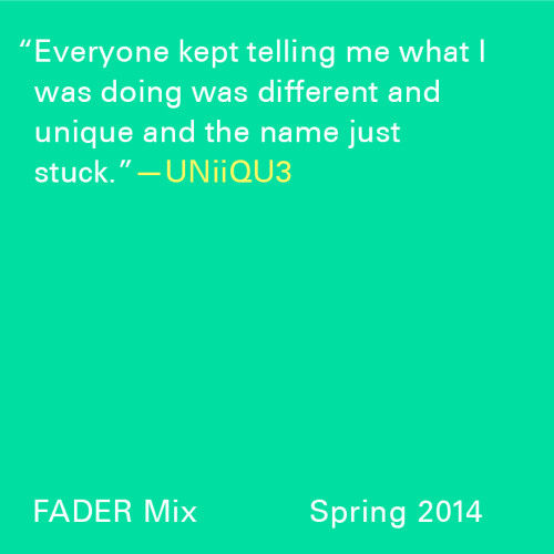 FADER Mix: UNIIQU3