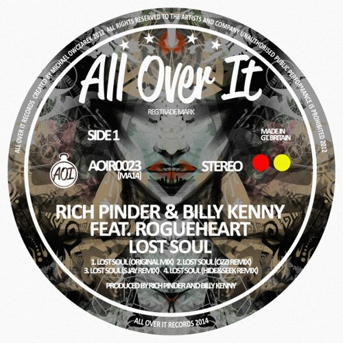 Rich Pinder, Billy Kenny feat. RougeHeart EP remixes from ozzi, S. Jay, and Hide&Seek OUT 30/05/2014