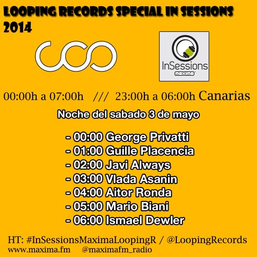 2- GUILLE PLACENCIA - Looping Records en Maxima FM 03 - 05 - 14