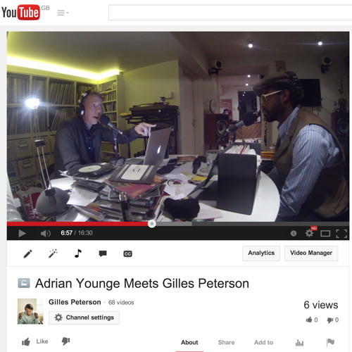 Adrian Younge Mix On Gilles Peterson Worldwide (GPWW881)