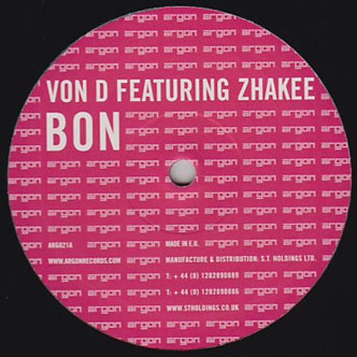 Von D Ft Zakhee - Bon - ARG021A - FREE DOWNLOAD