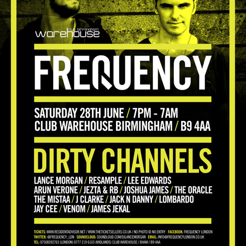 Frequency Summer Party with Dirty Channels - 28-06-2014 - Promo CD