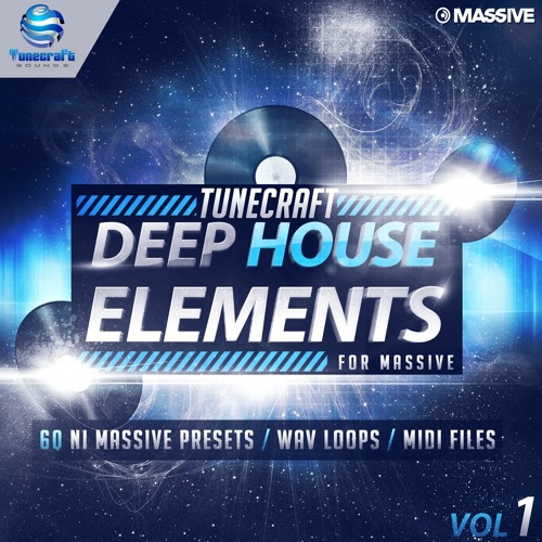 Tunecraft Deep House Elements Vol.1 - 60 Massive Presets, loops, midis and more - OUT NOW !