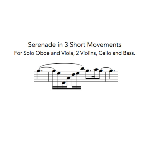 'Serenade' in 3 Movements, For Oboe Sextet