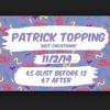 Patrick Topping @ Cosmic Ballroom Newcastle 11/02/2014