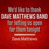 DMB - Take Me To Tomorrow (acoustic) - The Woodlands 16.05.2014