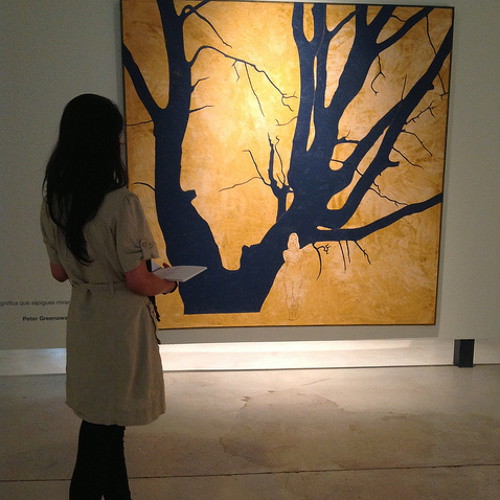 Beneath The Trees, Rimsha I., 2013, sobre l'obra Arbor Mundi 1, Ramon Herreros, 2005