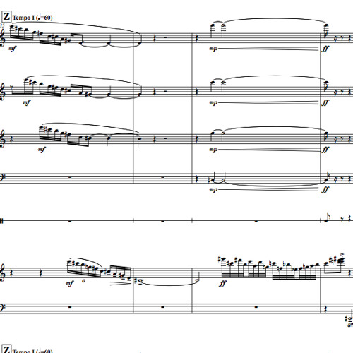 Other Voices (concertino for left hand)Extract from1st movement