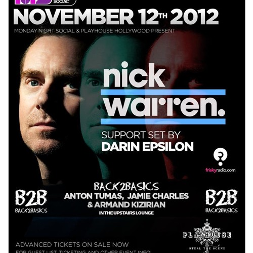 Darin Epsilon - Live at Monday Night Social w/ Nick Warren [Nov 12 2012]