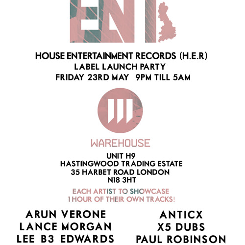 X5 Dubs Live @ H.E.R Label Party - Warehouse LDN 23/05/14 #HouseENT