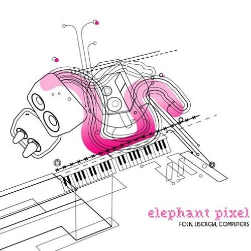 Elephant Pixel - Glass
