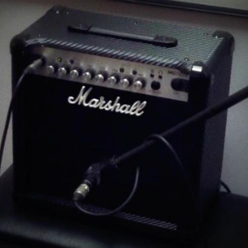 Marshall MG15CFX Guitar amp practice